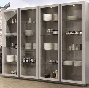 современный шкаф для посуды