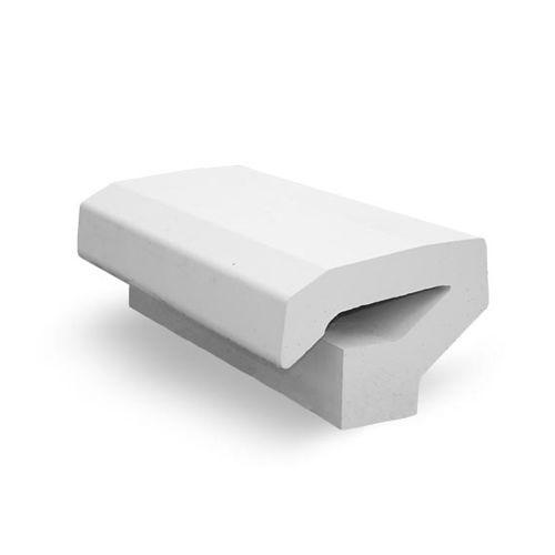 общественная скамейка / для сада / современная / из бетона