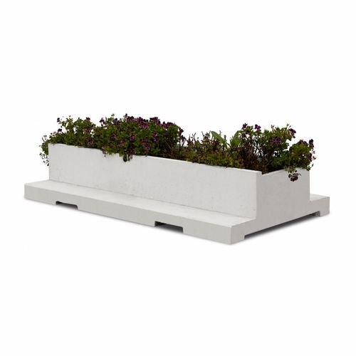 кадка для садовых растений из бетона / прямоугольная / современная / для общественных мест