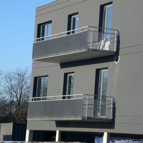 ограждение из гальванизированной стали / решетчатое / для наружного применения / для лестниц