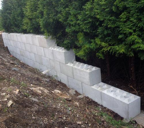 полный бетонный блок / для подпорной стены / для стены / высокого качества