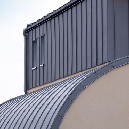 крыша из цинка / со стоячим фальцем / изогнутая / прочная