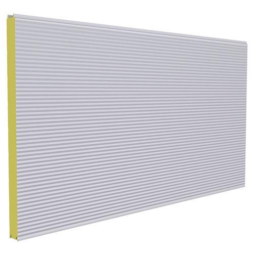 сэндвич-панель для стены / металлическая поверхность / прослойка из полиуретановой пены / прокладка из полиизоцианурата PIR