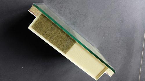 сэндвич-панель для фасада / поверхность из алюминия / изоляционная прокладка из минерального волокна / прокладка из экструдированного полистирола