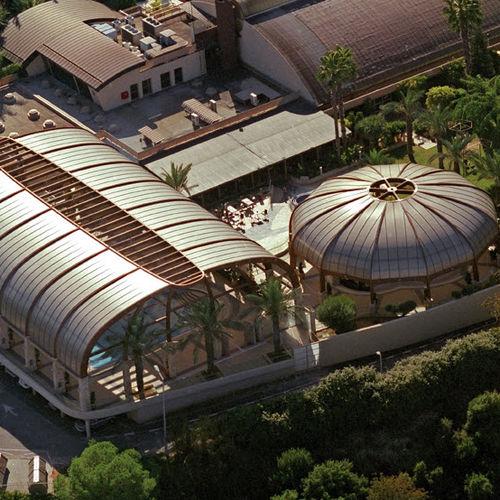 крыша из поликарбоната / полупрозрачная / ячеистая / с защитой от УФ-излучения