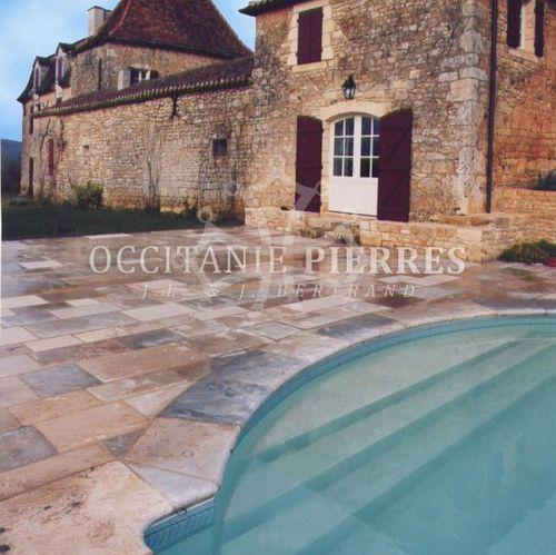плитка для пространства у бассейна / напольная / из натурального камня / однотонная