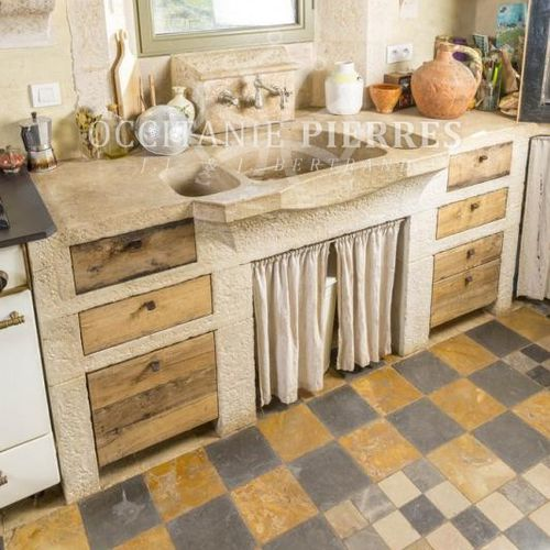 кухонная раковина 3 чаши / из натурального камня / другая форма