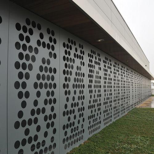 декоративное листовое железо / перфорированное / из алюминия / для фасада