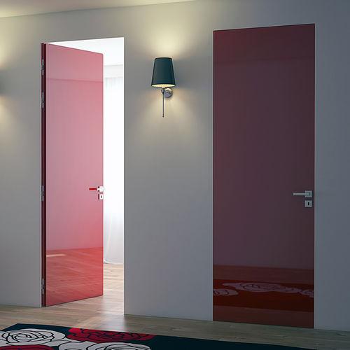 вмонтированная дверь / для помещения / створчатая / из металла