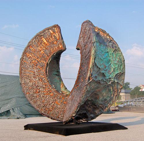 скульптура из стали / из меди / из алюминия / для наружного применения