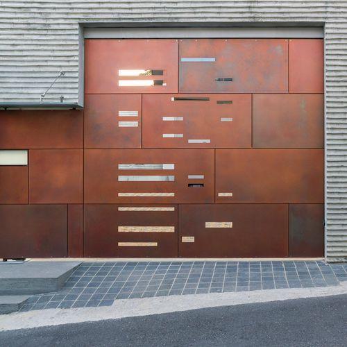 панельная облицовка фасада / из меди / патинированная / естественная отделка