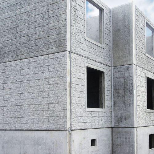 сэндвич-панель для фасада / поверхность из бетона / изоляционная прокладка