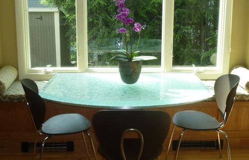 современный стол / из стекла