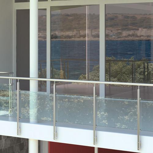 ограждение из стекла / из стали / с панелями / для наружного применения