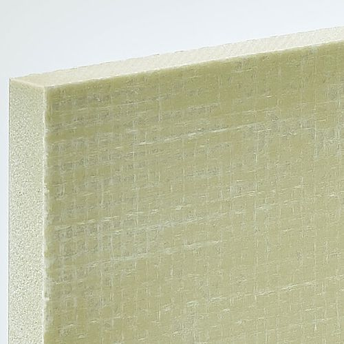сэндвич-панель для покрытий / для перегородки / поверхность из стекловолокна / прокладка из ПВХ