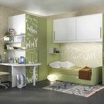 белая детская комната / зеленая / из лакированной древесины / из лакированного алюминия
