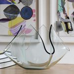современная ваза / из матового стекла