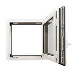 распашное окно / поворотно-откидное / из алюминия / с двойным остеклением