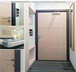 дверь для интерьера / створчатая / из алюминия / из нержавеющей стали