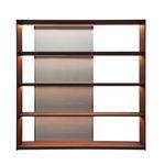 современный книжный шкаф / из дерева / из алюминия