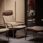 современное кресло / из ткани / из кожи / из металла