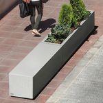 кадка для садовых растений из бетона / прямоугольная / модульная / современная