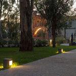столбик освещения для сада / городской / современный / из гальванизированной стали