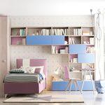 фиолетовая детская комната / синяя / из лакированной древесины / унисекс