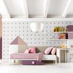 белая детская комната / розовая / из дерева / для девочек