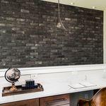 облицовочный кирпич для фасада / внутренний / черный / имитация камня