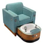 кресло для спа-педикюра из искусственной кожи