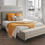 изголовье кровати для двуспальной кровати / современное / из ткани / из кожи