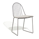 современный стул для сада / салазки / со съемной подушкой / из металла