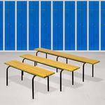 современная скамейка для раздевалки