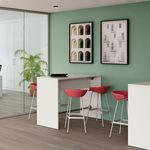 современный высокий стол для еды стоя