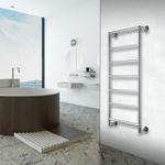 полотенцесушитель на горячей воде / из нержавеющей стали / современный / для ванной комнаты