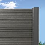 садовое заграждение / с пластинками / из композитной древесины / высокой степени защиты