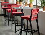 современный барный стул / обитый / из хлопчатобумажной ткани / из Sunbrella®