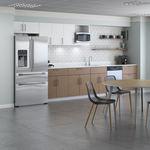 кухня для профессионального использования из дерева / с ручками / для офисов