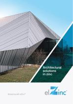 Architectural solutions in Zinc