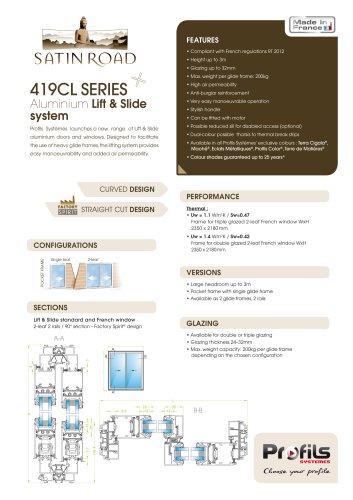 Satin Road® aluminium lift & slide system