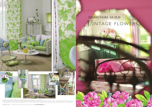 VINTAGE FLOWERS BROCHURE