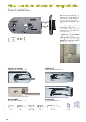 MV-100 MV-200 MV-100 MV-400 MV-720 New magnetic horizontal locks MV-100