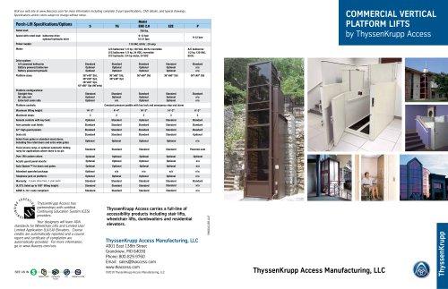 Commercial vertical platform lifts