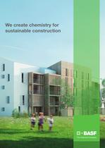 We create chemistry for sustainable construction