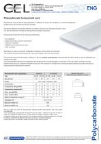Polycarbonate honeycomb core